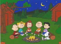 Charlie Brown Snoopy Peanuts Gang Roasting by MagnetsbyAbby