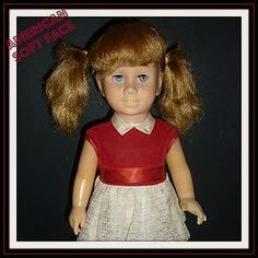 Mattel Chatty Cathy Doll  Soft Face -Blonde Piggy -60's http://www.dollshopsunited.com/stores/dolllighted/items/1276670/Mattel-Chatty-Cathy-Doll-Soft-Face-Blonde-Piggy-60s #dollshopsunited