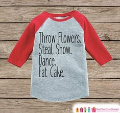 Funny Flower Girl Outfit  Throw Flowers Steal Show  Red