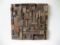 Size: 24 (w) x 24 (h) x 5 (d)    Bring contemporary simplicity, yet rustic elegance to your home with this reclaimed barn wood wall art. Made