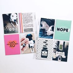 Gimme a Break! Project Life 6x8, Life Happens, Layout, Instagram Posts, Projects, Blog, Cards, Stamping, Scrapbooking
