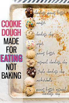 healthy cookie dough 10 Edible Cookie Dough Recipes Made For Eating - Cooking With Karli Cookie Dough Vegan, Cookie Dough For One, Protein Cookie Dough, Cookie Dough Recipes, Protein Cookies, Chocolate Chip Cookie Dough, Healthy Cookies, Baking Recipes, Cookie Dough Fudge