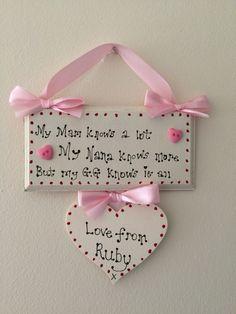 Great grandmother plaque