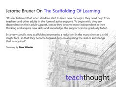 Learning Theories: Jerome Bruner On The Scaffolding Of Learning