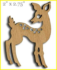 Wooden Doe (Deer) Laser Cut, custom  scrapbooking, crafts, DIYGreek.com