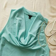 Ann Taylor sleeveless baby blue top Cowl Neck top. Ann Taylor Tops Blouses