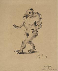 """franz sedlacek; groteskes tier – 2014 @ leopold museum wien – exhibition: """"Linie und Form"""""""