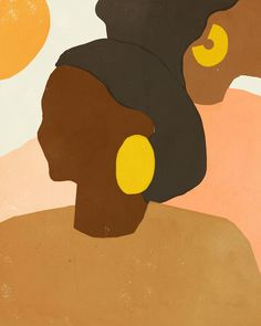 2018 was undoubtedly the year of the woman. So what better artist to feature than Ashley Seil Smith, whose work centers around themes of feminism, intersectionality and interculturalism. Art Inspo, Kunst Inspo, Art And Illustration, Modern Art, Contemporary Art, Modern Design, Art Watercolor, Art Moderne, Grafik Design