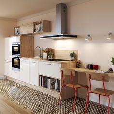 Kitchen Cabinets Decor, Kitchen Units, Studio Kitchen, New Kitchen, Starter Home, Interior Design Kitchen, Cool Kitchens, Sweet Home, House Design