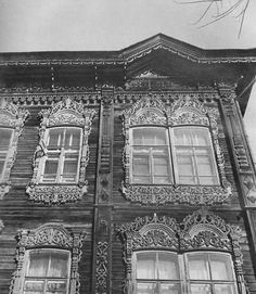 The wooden house in Tomsk, beginning of the 20th century