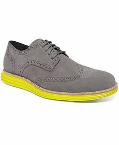Cole Haan Lunar Grand Wing-Tip Oxfords - Men's Designer Shoes - Men - Macy's