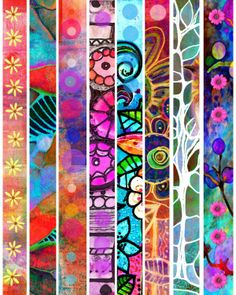 Life In Color | Faux Washi tape strips.. Creating tape strips digitally
