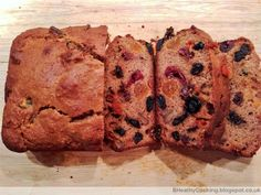 The Healthy Cooking Blog: Flour less fruit loaf