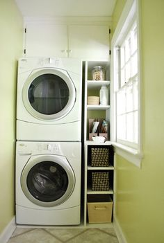 laundry awesomeness in a tight space