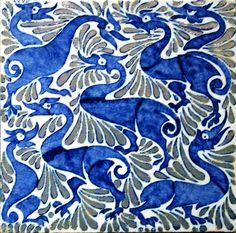 William Frend de Morgan Абстрактные утки с эффектом люстрирования Уильяма де Моргана