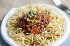 Sweet Potato Noodles with Beef Bolognese #recipe via The Movement Menu http://www.yummly.com/recipe/Sweet-Potato-Noodles-with-Beef-Bolognese-1437101