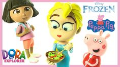 Feeling Hungry today? #Frozencharacters Elsa is preparing something delicious in her lovely kitchen today! Her friends #Dora and #Peppa has come on over and they saw the yummy cake that Elsa baked. Watch Now!
