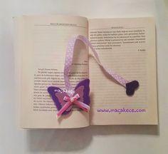 Keçe Kelebek Kitap Ayracı / Butterfly Felt Bookmark