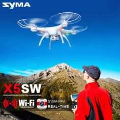 Syma X5SW Drone with WiFi Camera Real-time Transmit FPV Quadcopter (X5C Upgrade) HD Camera Dron 2.4G 4CH RC Helicopter # //Price: $54.98 & FREE Shipping //     #videogame