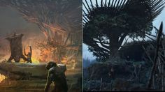 While we do love concept art that gives us an alternate universe version of movies, it's incredibly fascinating to see how final, approved concept art translates from a simple illustration to a scene on film. Compare these gorgeous Dawn of the Planet of the Apes concept pieces to images from the movie itself.