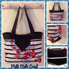"Méli-Mélo a cousu un sac Madison esprit ""bord de mer"" - patron de couture Sacôtin"