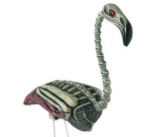 Zombie Flamingo Lawn Ornament