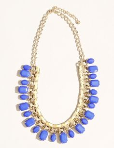 Cobalt and gold necklace
