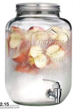 果実酒を作るのに最適!! 瓶に蛇口がついてるヨークシャーメイソンのジャードリンク #梅森罐飲料 #飲料桶 | duo.com.tw
