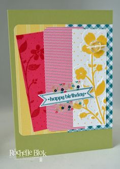The Stamping Blok: Gingham Garden Samples By Rochelle Blok