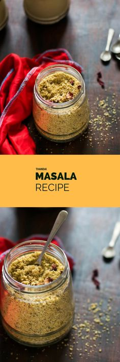 Refreshing and healthy dried fruit and spices masala powder which is used to make a very delicious and cool drink called Thandai for the celebration of Holi festival.