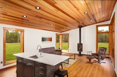 This is the 601 sq. Aspen Small House by Dickinson Homes and you're welcome to come check it out inside! Cabin House Plans, Tiny House Cabin, Tiny House Living, Small House Plans, Small Tiny House, Modern Tiny House, Small House Design, Modern House Design, Cabins And Cottages