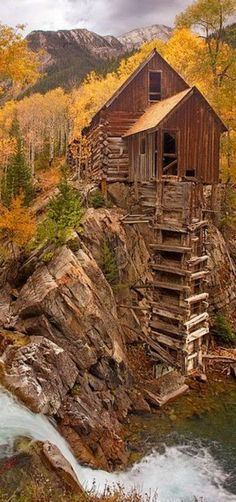 Chrystal Mill | The Crystal Mill is right next to the old ghost town of Crystal. It's six miles east of the tiny little town of Marble, Colorado, USA | by Mike Jones