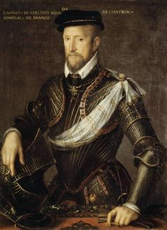 Image: French School - Gaspard II of Coligny Admiral of France French History, Art History, Francois 1, Adele, Oil On Canvas, Canvas Prints, Gaspard, Renaissance Portraits, Old Portraits