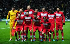 FC Spartak Moscow Photos - FC Spartak Moscow line up before the UEFA Champions League Group G match between Celtic FC and FC Spartak Moscow at Celtic Park on December 2012 in Glasgow, Scotland. - Celtic v FC Spartak Moscow - UEFA Champions League Fc Spartak Moscow, Celtic Fc, Uefa Champions League, Lineup, Vienna, Ronald Mcdonald, Christmas Sweaters, Russia, Glasgow Scotland