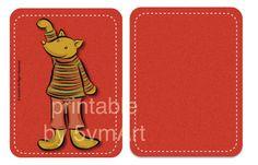Set card Animal per Project Life o come segnapagina per organizer. Illustrazioni by 5vmArt. Printable da scaricare