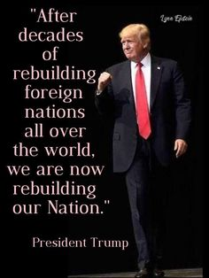 Thank you President Trump! Trump Is My President, John Trump, Pro Trump, Greatest Presidents, American Presidents, Melania Trump, Political Quotes, Trump Train, Conservative Politics