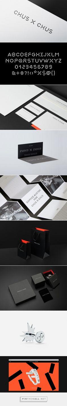 CHUS X CHUS, jewelry brand by internationally renowned designer Chus Burés — custom typography and brand identity by Pentagram Logo Branding, Brand Identity, Branding Design, Logo Design, Visual Identity, Jewelry Logo, Jewelry Branding, Restaurant Identity, Brand Fonts
