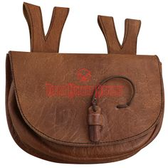 Brown Medieval Leather Belt Bag - AH-3956 from Dark Knight Armoury
