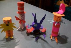 Seuss theme toilet paper roll characters Totten Totten Ramey Just a thought for Read Across America week in March! Camping Activites For Kids, Camping Crafts, Dr Seuss Activities, Art Activities, Fun Crafts To Do, Crafts For Kids, Dr Seuss Week, Dr Suess, Paper Towel Roll Crafts