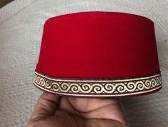 Bordeaux Maroon Anatolia FEZ Turkish Fes Folkloric Wedding Hat  Henna Party