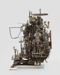 ACM.1491 Free Standing Sculpture, Wood Sculpture, Sculptures, Computer Architecture, Louise Nevelson, Richard Serra, Alberto Giacometti, Art Brut, Yarn Bombing