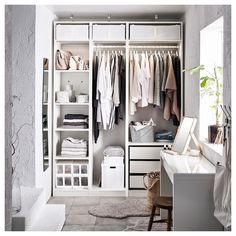 Ideas walk in closet organization ideas ikea pax wardrobe Closet Walk-in, Ikea Closet, Closet Ideas, Wardrobe Ideas, Diy Wardrobe, Cupboard Wardrobe, Wardrobe Storage, Clothes Storage, Organizing Walk In Closet