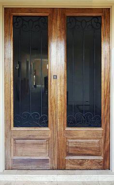 Brescia. Wood and Wrought Iron Door