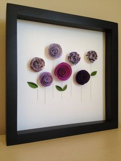 Purple Rose Garden 3D Paper Art Customize with your by PaperLine, $35.00