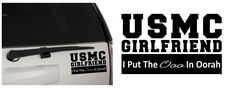United States Marine Corps Girlfriend (USMC) I Put The Ooo In Oorah Matte Indoor/Outdoor Vinyl Decal Sticker, MultiPurpose - For Your Auto, Wall, Window and More!  https://www.etsy.com/shop/MiaBellaDesignsWI  http://www.amazon.com/s?marketplaceID=ATVPDKIKX0DER&me=A2MSEOIVL689S1&merchant=A2MSEOIVL689S1&redirect=true