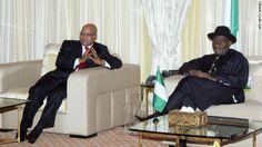President Goodluck Ebele Azikiwe Jonathan and South Africa President, Jacob Gedleyihlekisa Zuma
