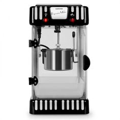 Volcano Popcorn Machine Stainless Steel Kettle Black - Whenever someone plans a movie night, the question of snacks always arises. With the Klarstein Volcano popcorn machine, the answer is quickl Stainless Steel Kettle, Homemade Popcorn, Fun Cooking, Volcano, Popcorn Maker, Espresso Machine, Coffee Maker, Kitchen Appliances, This Or That Questions