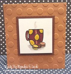 Creative With Monika: The last Coffee Mug & Macarons Card for Fall Coffee Lovers Blog Hop :)