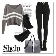 """SheIn 2"" by amrafashion ❤ liked on Polyvore"