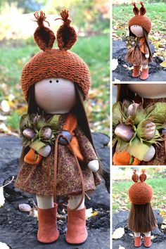 Autumn Doll Tilda Doll Orange Unique Soft Doll Poupée Fabric Doll Handmade Textile Doll Rag Doll Baby Cloth Doll Muñecas Bambole by Olga G _____________________________________________________________________________________  Hello, dear visitors!  This is handmade cloth doll created by Master Olga G (Vinnitsa, Ukraine). All dolls stated on the photo are mady by artist Olga G. You can find them in our shop searching by artist name. Here are all dolls of artist Elvira: https://www.et...
